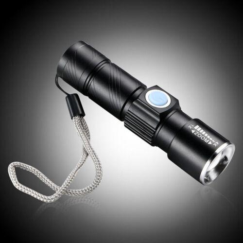 Mini Taschenlampe LED USB wasserdicht einstellbarer Zoom energiesparend