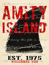 AMITY ISLAND - FINE ART PRINT POSTER 13x19 - JAWS MOVIE SHARK GST500