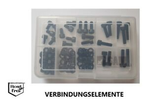 Innensechskantschrauben Sortiment//Set 100 Teile DIN 912 SCHWARZ EDELSTAHL A2 M6