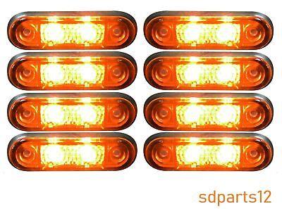 4/X 12/V 24/V Blanc LED Rouge arri/ère Feux de gabarit pour camion remorque DAF Scania Man Camper caravane Bus van