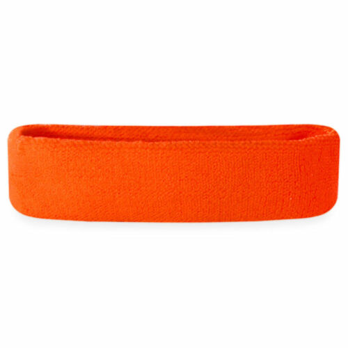Women//Men Cotton Sweat Sweatband Headband Yoga Gym Stretch Head Band ORANGE US