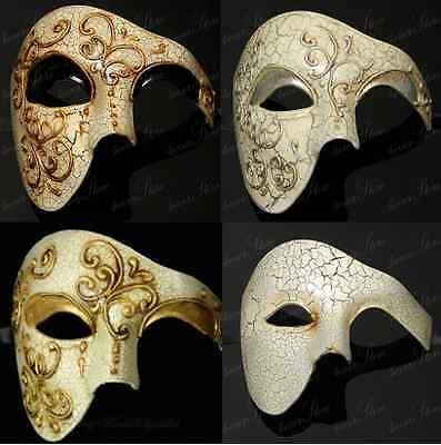 Phantom of the Opera Masquerade Mask - Venetian Mardi Gras Costume Half Masks