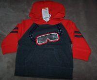 Gymboree King Of Cool Size 6-12 Mo Ski Goggle Hoodie Winter Sweatshirt Boys