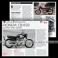 HONDA CB 450 TWIN (CB450) 'BLACK BOMBER' Modèle 1965 - Fiche Moto MRC