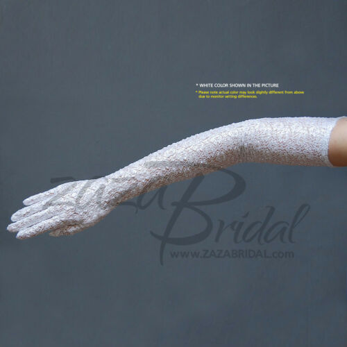 Fabulous Stretch Light Weighted Long Nylon Gloves 16BL Opera Length