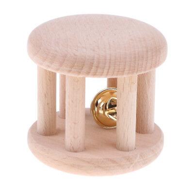 Wooden Montessori Rattle Baby Grasping Teething Sensory Toy Toddler Handbell