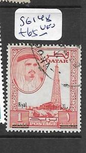 QATAR (P0902B) SHEIKH REVALUED 1R/1R SG 148 VFU