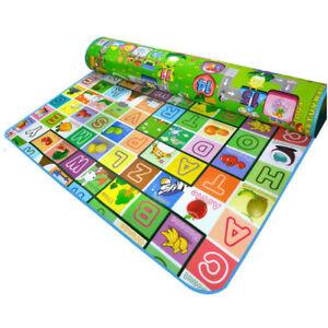 Baby-Kid-Game-Play-Mat-Beach-Picnic-Rug-Reversible-Bedroom-Nursery-Xmas-Gift