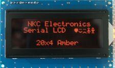 Serial Lcd Module 20x4 Amber On Black 5v Uart I2c Spi For Arduino