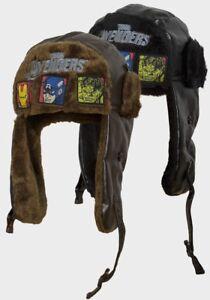 eea6e4d3c41e9 Image is loading BOYS-TRAPPER-HAT-MARVEL-AVENGERS-OFFICIAL-HUNTER-WINTER-