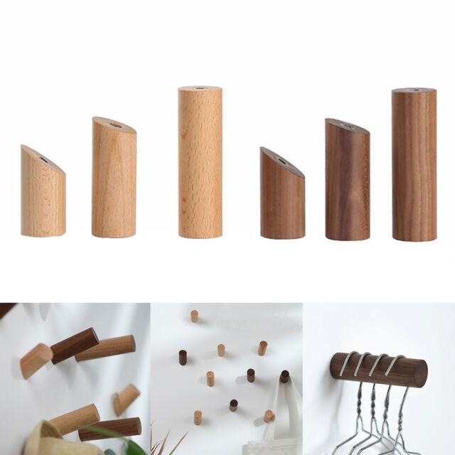 4 Stück Garderobenhaken Holz 3D-Optik Kleiderhaken Kinder NEU