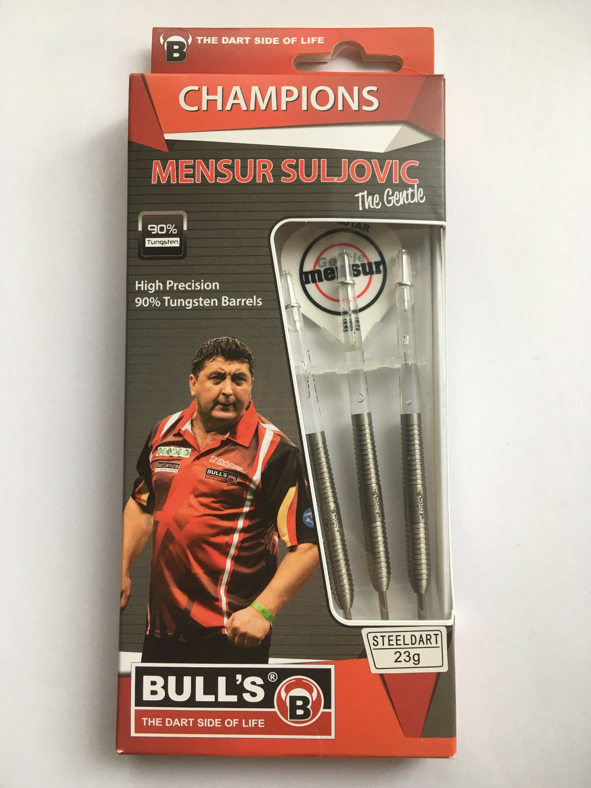 Bulls Mensur Suljovic Natural 90% Tungsten Darts set 21g