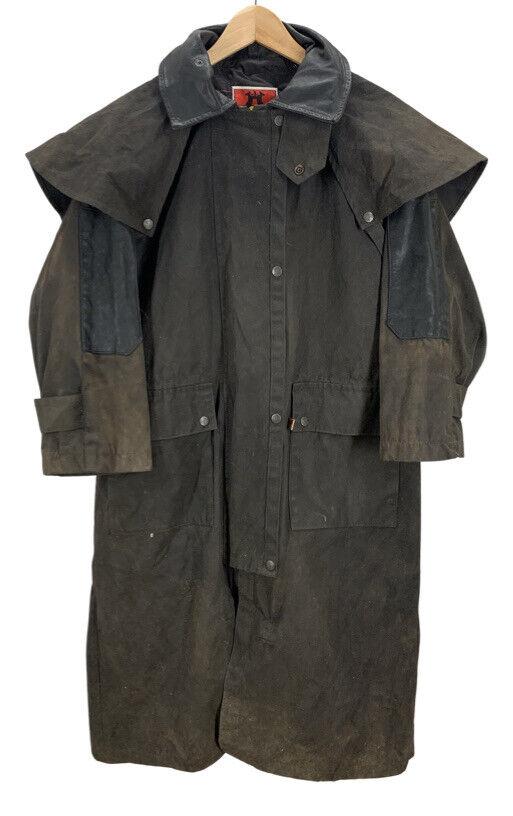 Kakadu Brown Oilskin Wax Cotton Duster Jacket XS - image 1