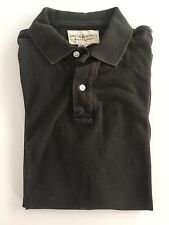 RALPH LAUREN Denim & Supply Mens Grey Flag Patch Polo Shirt Size Medium M