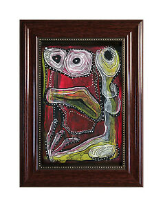 PRINT-OF-ORIGINAL-PAINTING-034-RED-MONSTER-034-MARACHOWSKA-ART-FRAME-WITH-GLASS