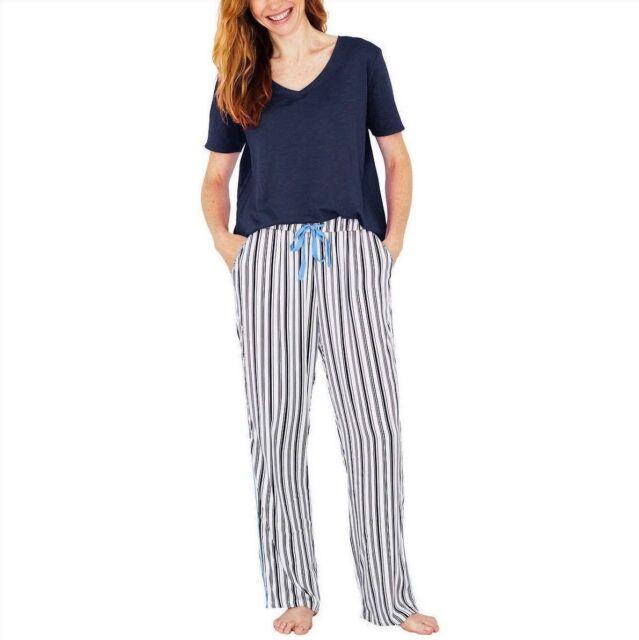 NEW Splendid Women s Pajamas Lounge Set Navy Stripe (Blue White) 2-Piece e82366604