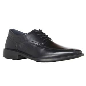 MENS-HUSH-PUPPIES-MASK-BLACK-LEATHER-LACE-UP-WORK-FORMAL-MEN-039-S-SHOES-BOUNCE-NEW
