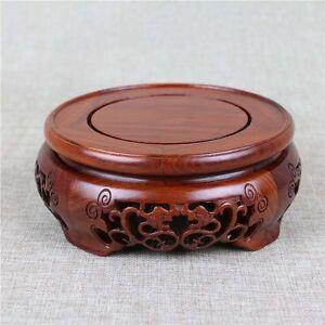 Wood base display stand For vase teapot incense burner statue flowerpot 7 inch