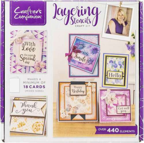 Crafter/'s Companion Craft Box Kit Layering Stencils 709650910591