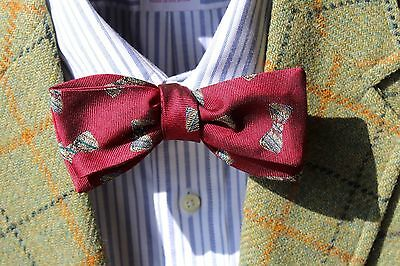 Bow Tie Club Gent's Maroon Square-End Self-Tie Silk Bow Tie - USA - Bow Ties