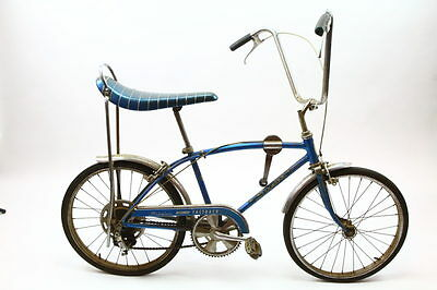 VINTAGE SCHWINN 1966 FASTBACK 36CM 5 SPEED STIK SHIFT GEAR BICYCLE BLUE