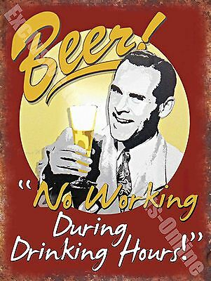 Vintage Drink, 86 Beer No working, Funny, Old Pub Bar Ale, Medium Metal Tin Sign