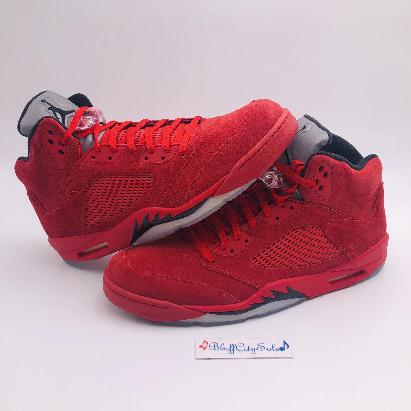best sneakers 81b46 eb2f3 Nike Air Jordan Retro Retro Retro 5 Red Suede University Red Black 136027  602 Men s Size