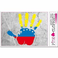 Aufkleber - Venezuela - Hand - Fahne - bumper sticker - car - flag Flagge mano