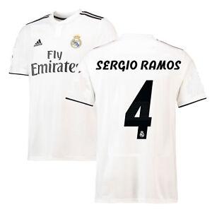 b8b498a234b adidas Real Madrid 2018 - 2019 Sergio Ramos  4 Home Soccer Jersey ...