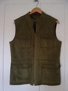 M vert taille pour suède Débardeur femmes la olive sur harv'e poitrine Benard en zippé 42 qAxfCa