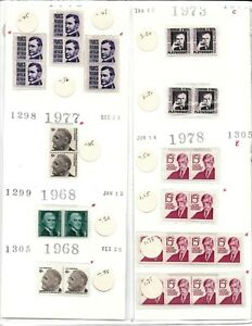 Mint USPS Postage - Mixed! Various Vintage Stamps 9 Values, 53 Stamps - MNH