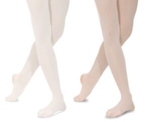 b70a343a83b58 Girls/ Children's Seamless BALLET TIGHTS Footed Dance. Pink or White ...