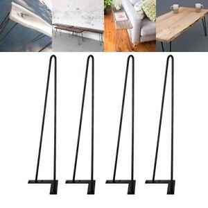 22 Hairpin Legs Set Of 4 Diy Solid Iron Metal Desk Legs Screws
