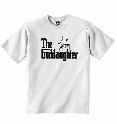 New Personalised Long Sleeve Cotton Baby Vests for Boys Girls The Goddaughter