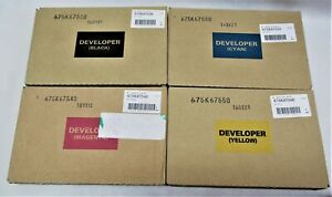 Xerox SET CMYK Developer WC 7425 7428 7435 7525 7530 7535 675K67520 30 40 50