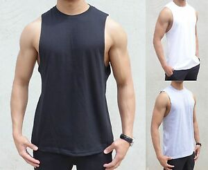 9ef29293 BULK 50 X PACK PLAIN sleeveless Singlet RAW EDGE MUSCLE TANK TOP ...