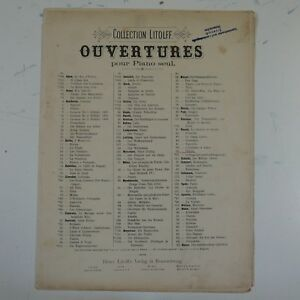2019 Nouveau Style Piano Solo Rossini Othello Overture, Antique Litolff-afficher Le Titre D'origine Vente De Fin D'AnnéE