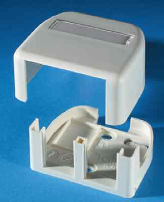 Ortronics TracJack SMB Surface Mount Box REDUCED 2 Port Fog White OR-40400054