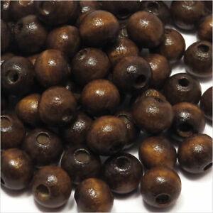 Perles en bois de Pin brun ronde 8 mm lot de 100 200 unités