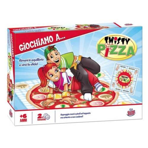 GIOCO DI SOCIETA PARTY GAME TWISTY PIZZA GRANDI GIOCHI CON TABELLA E TAPPETO