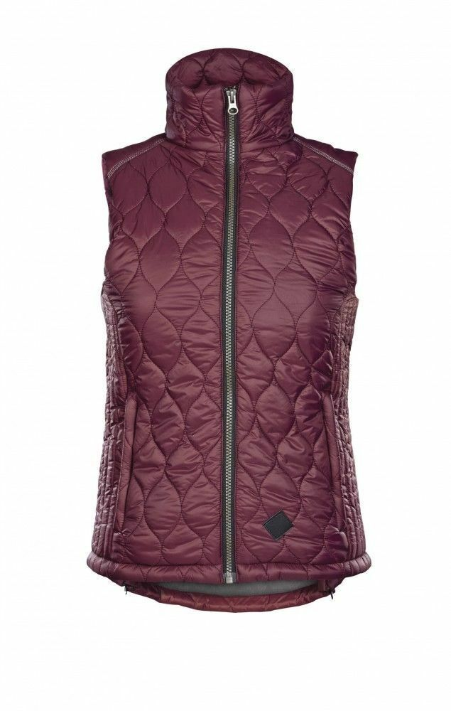 NEW  CALDENE  AREZZO SATIN BURGUNDY GILET  LADIES SIZE 8 BODY WARMER  all products get up to 34% off