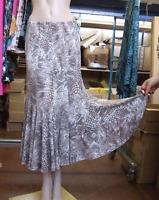 Joseph Ribkoff Uk 10 Divine Mocha & White Animal Print Long Jersey Skirt