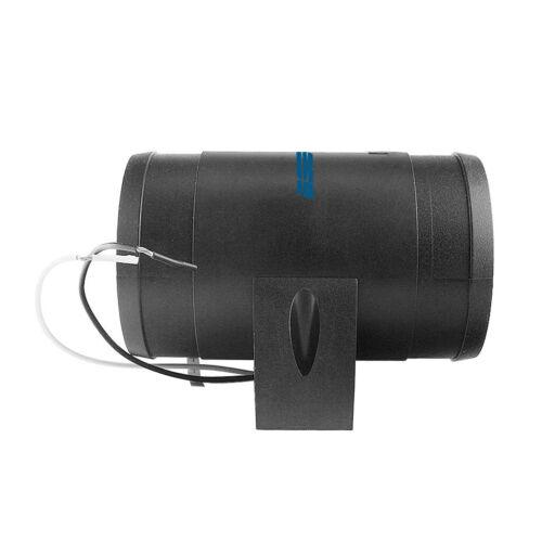 Black Marine Blower 3inch 12V In-Line Ventilation Fan Turbo Bilge Boat Parts