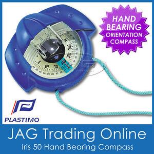 PLASTIMO IRIS 50 BLUE HAND BEARING COMPASS - Marine/Hiking/Scout/Orienteering