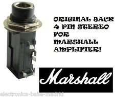 "ORIGINAL MARSHALL 1/4"" 6.35mm STEREO INPUT JACK PC MOUNT TUBE AMP AMPLIFIER"