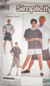 Vintage-Simplicity-Pattern-Pants-Shorts-Shirt-Top-M-SEW