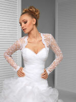 Wedding Top Bridal Lace Bolero/shrug/jacket Long Sleeve S M L Xl Xxl