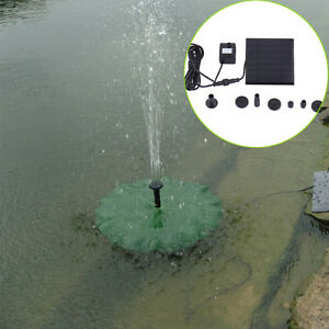 180L/H Solar Panel Submersible Water Pump Kit Fountain Pool Watering Garden Pond