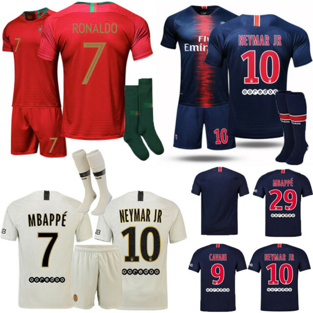 new concept ac3b6 60c90 18/19 Home Away Football Kid 3-14Y Youth Kit Shirt Soccer Jersey Club  Suit+Socks