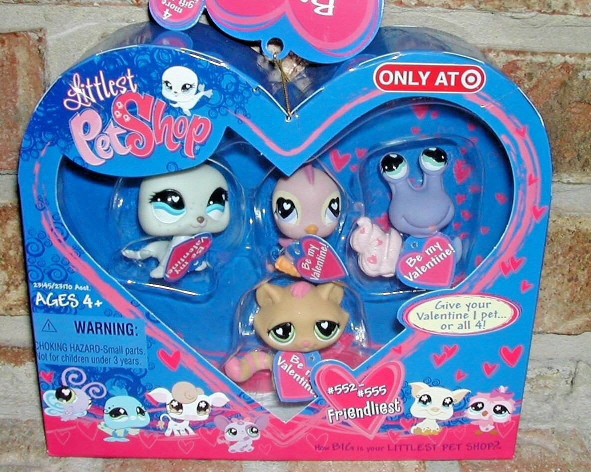 Littlest Pet Shop HEART VALENTINE w tags Exclusive 552 553 554 555 seal HTF